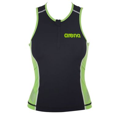 Arena ST sleeveless tri top black/green women