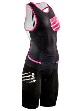 Compressport Tr3 aero trisuit compression black women