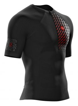 Compressport Trail running postural short sleeve compression top black men