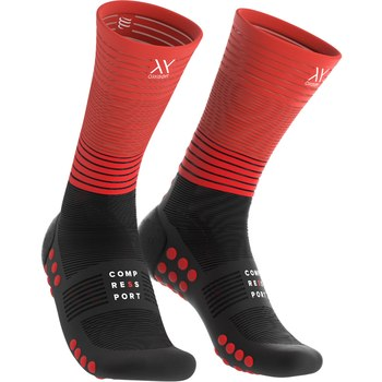 Compressport Mid Compression socks Oxygen black/red
