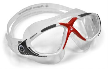 Aqua Sphere Vista clear lens goggles silver/red