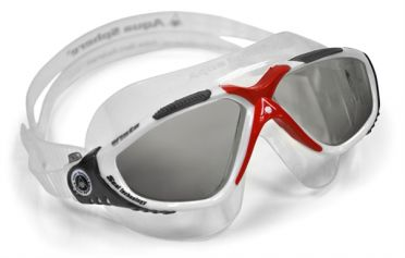 Aqua Sphere Vista dark lens goggles silver/red
