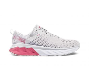 Hoka One One Arahi 3 running shoes white/pink women