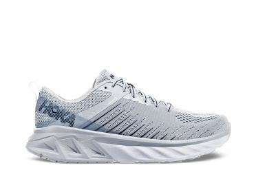 Hoka One One Arahi 3 wide running shoes white/grey women