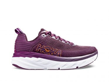 Hoka One One Bondi 6 running shoes purple/white women