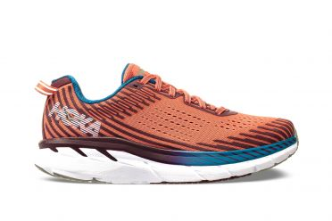 Hoka One One Clifton 5 running shoes orange women
