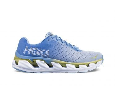 Hoka One One Elevon running shoes blue/white women