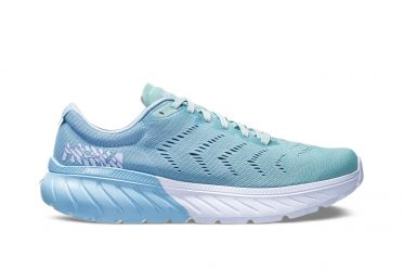 Hoka One One Mach 2 running shoes light blue women
