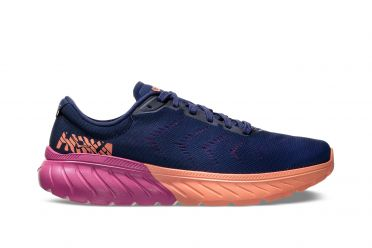 Hoka One One Mach 2 running shoes blue/pink women
