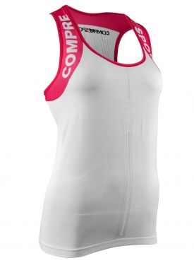 Compressport Trail running shirt v2 tank compression top white woman