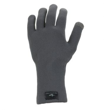 SealSkinz Ultra grip knitted cycling gloves grey