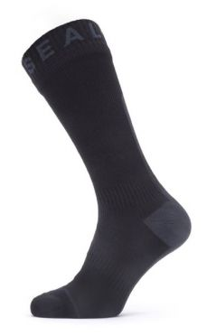 Sealskinz All weather mid cycling socks with Hydrostop black/grey