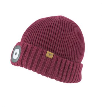 Sealskinz cold weather led beanie red