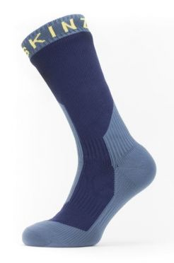 Sealskinz Extreme cold weather mid cycling socks with Hydrostop blue