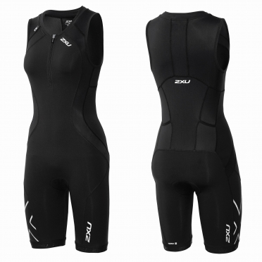 2XU Compression Full Zip trisuit black women