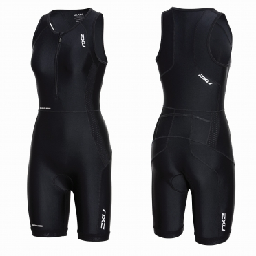 2XU Perform Front Zip trisuit black women