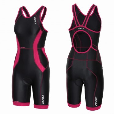 2XU Perform tri suit y-back black/pink women