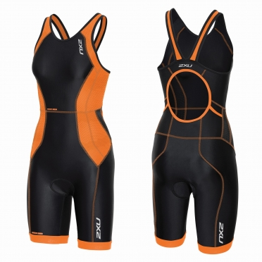 2XU Perform tri suit y-back black/orange women