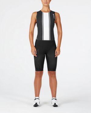 2XU Project X swim skin black/white women