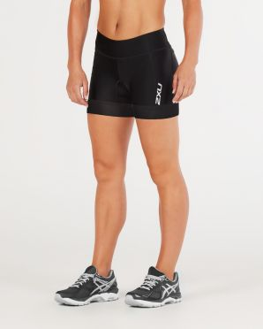 "2XU Perform 4.5"" tri shorts black women 2018"