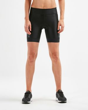 "2XU Perform 7"" tri shorts black women"