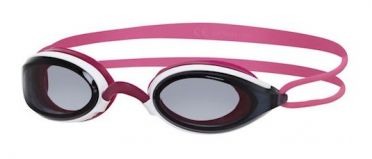 Zoggs Fusion air lady dark lens goggles pink