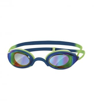 Zoggs Fusion air gold mirror goggles green/blue