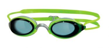 Zoggs Fusion air dark lens goggles green