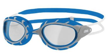 Zoggs Predator clear lens goggles blue/grey