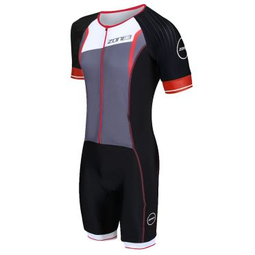 Zone3 Lava long distance FZ short sleeve trisuit men