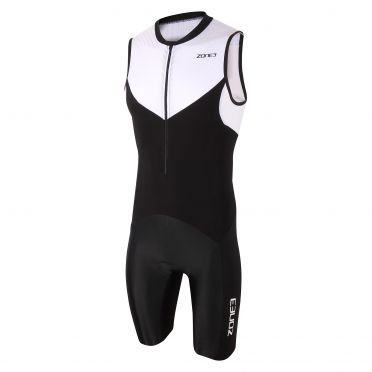 Zone3 Lava long distance sleeveless trisuit black/white men