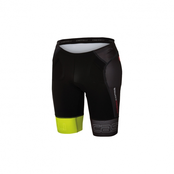 Castelli Free tri Short black/yellow men 16070-321  CA16070-321