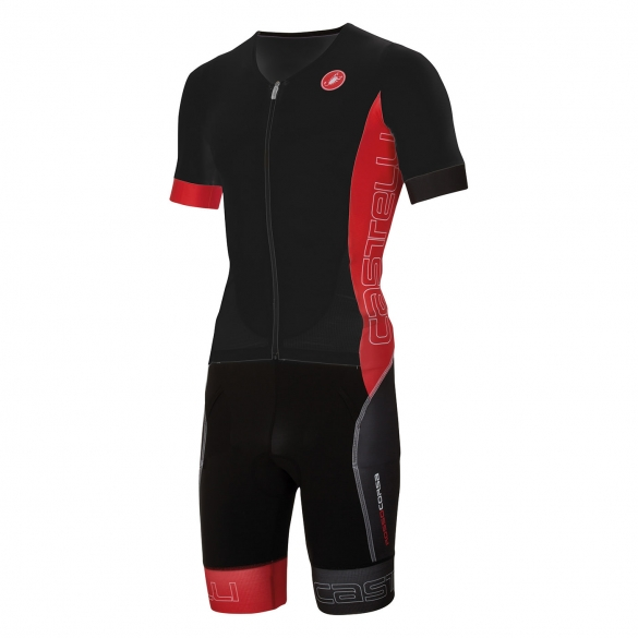 Castelli Free sanremo tri suit short sleeve men black/red 16073-231  CA16073-231