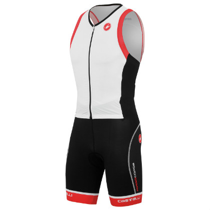 Castelli Free sanremo tri suit sleeveless white mens 14107-101 2015  CA14107-101(2015)
