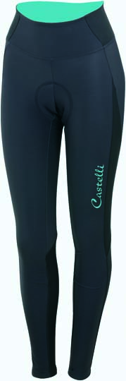 Castelli Illumnia tight anthracite/blue women 14564-066  CA14564-066