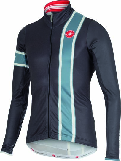 Castelli Storica jersey FZ anthracite/blue stone mens 15532-009  CA15532-009