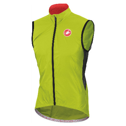 Castelli velo vest sleeveless cyclingjacket lime men's 14027-043 2014  CA14027-043