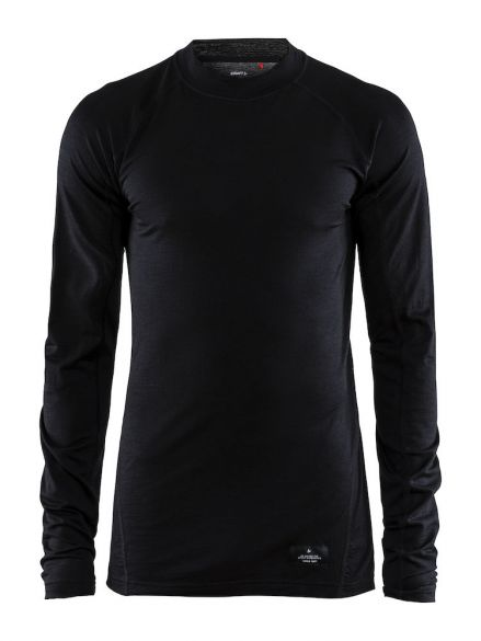 Craft Warm merino long sleeve baselayer black men  1906618-999000