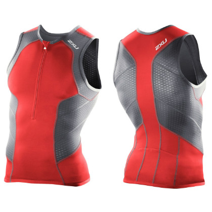 Orca Core Mens Triathlon Singlet Red Tri-Top Cycling Running Swimming Tank Top