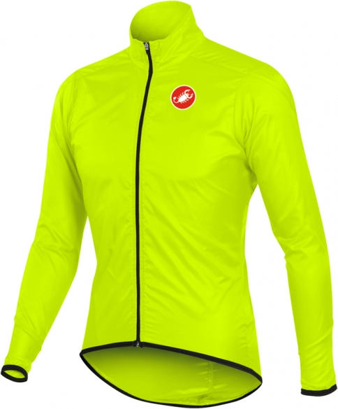 Castelli squadra long jacket yellow-fluo mens 10504-032  10504-032