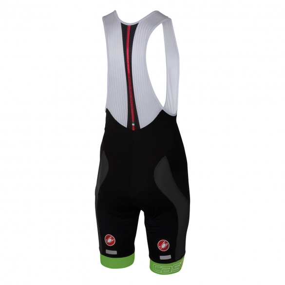 Castelli Velocissimo bibshort black/green men 16003-038  CA16003-038