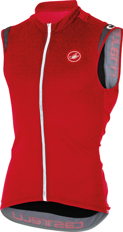 Castelli Entrata 2 sleeveless jersey red men 16014-023  16014-023