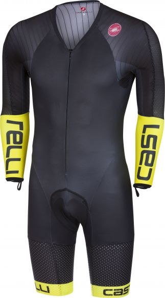 Castelli Body paint 3.3 speedsuit long sleeve black/yellow fluo men  17000-321