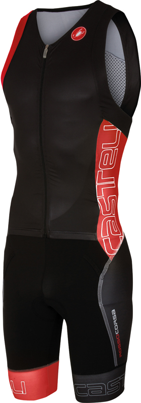 Castelli Free sanremo tri suit sleeveless men black/red 16071-231  16071-231