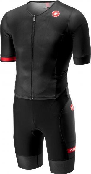 Castelli Free sanremo trisuit short sleeve black men  18109-010