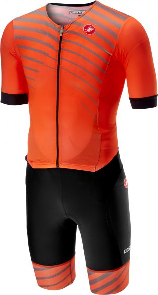Castelli Free sanremo trisuit short sleeve black/orange men  18109-034