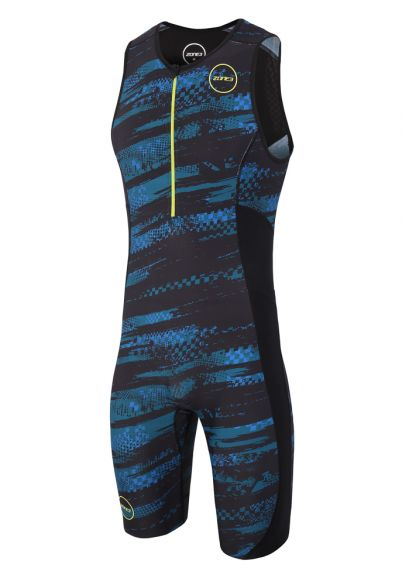 Zone3 Activate plus sleeveless trisuit Stealth speed men  TS18MACPP104
