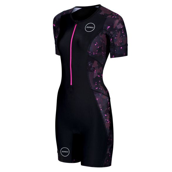 Zone3 Activate plus short sleeve trisuit Stealth speed women  TS19WACPP114