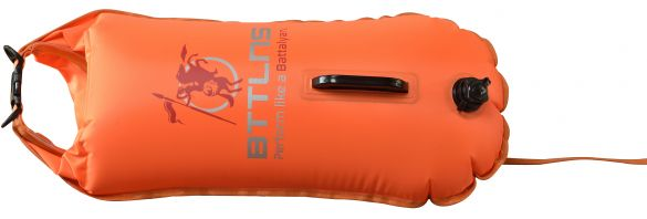 BTTLNS Saferswimmer buoy dry bag 28 liter Poseidon 1.0 Orange  0117003-034