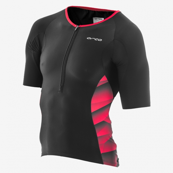 Orca 226 Kompress tri jersey short sleeve black/red men  GVDE91